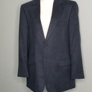 Men's navy sport coat jacket suede Jeffrey  Banks
